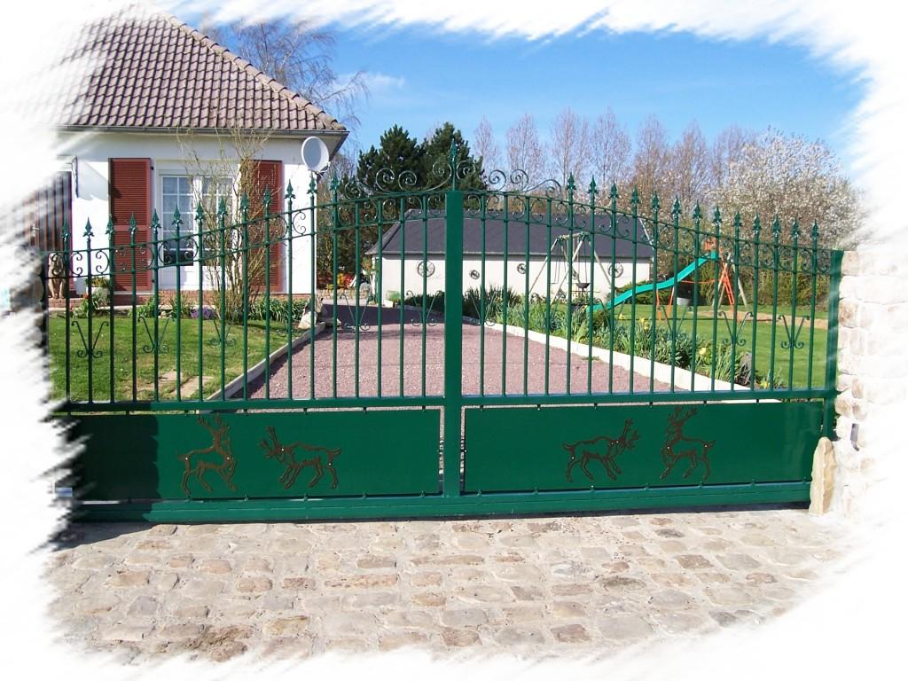fabrication porte portail motorisé sur mesure le meillard