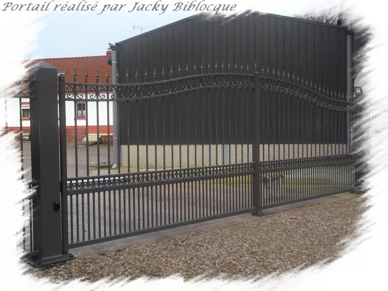 biblocque ferronnerie fabrication porte portail deux vantaux sur mesure. Black Bedroom Furniture Sets. Home Design Ideas