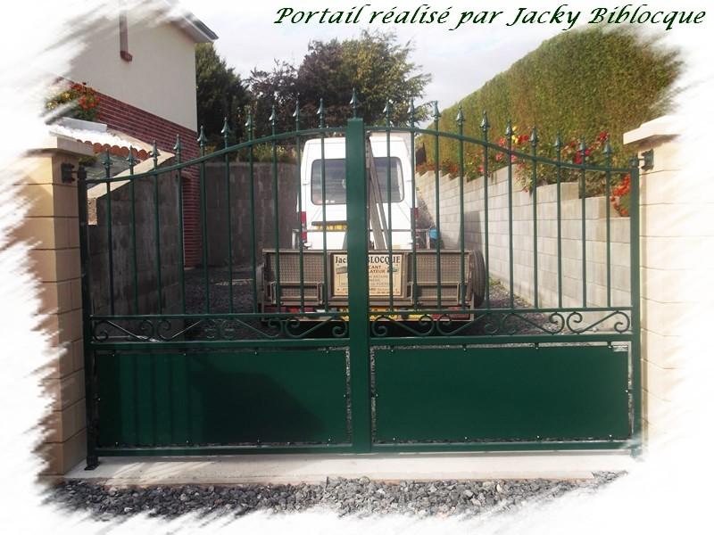 Biblocque ferronnerie fabrication porte portail deux - Portail a vantaux ...