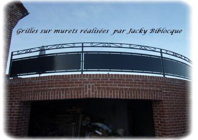 grilles sur murets jacky biblocque