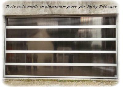 porte sectionnelle jacky biblocque