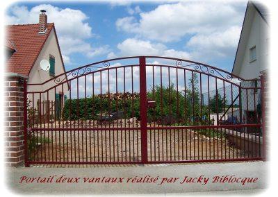 portails deux vantaux jacky biblocque doullens auxi bernaville