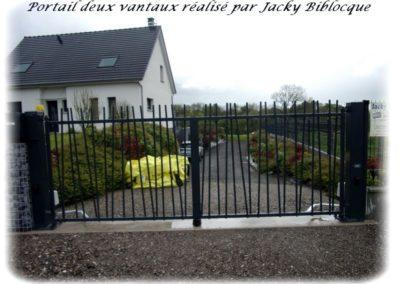 portail deux vantaux jacky biblocque doullens frevent auxi le chateau bernaville abbeville
