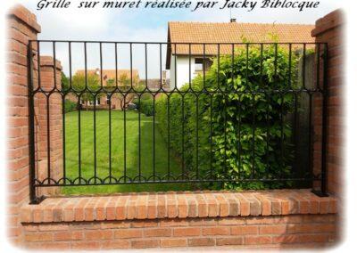 grilles sur muret jacky biblocque doullens auxi bernaville