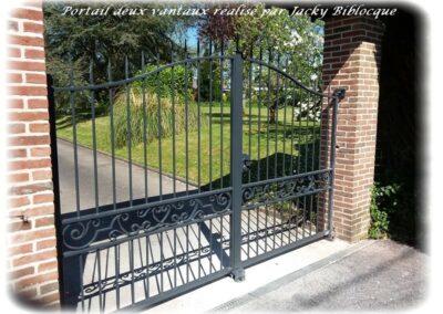 portail deux vantaux jacky biblocque doullens auxi bernaville